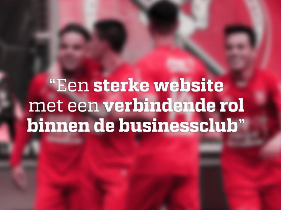 We werken graag voor Gouden talenten (Business club FC Twente)