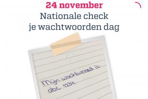 Nationale check je wachtwoorden dag